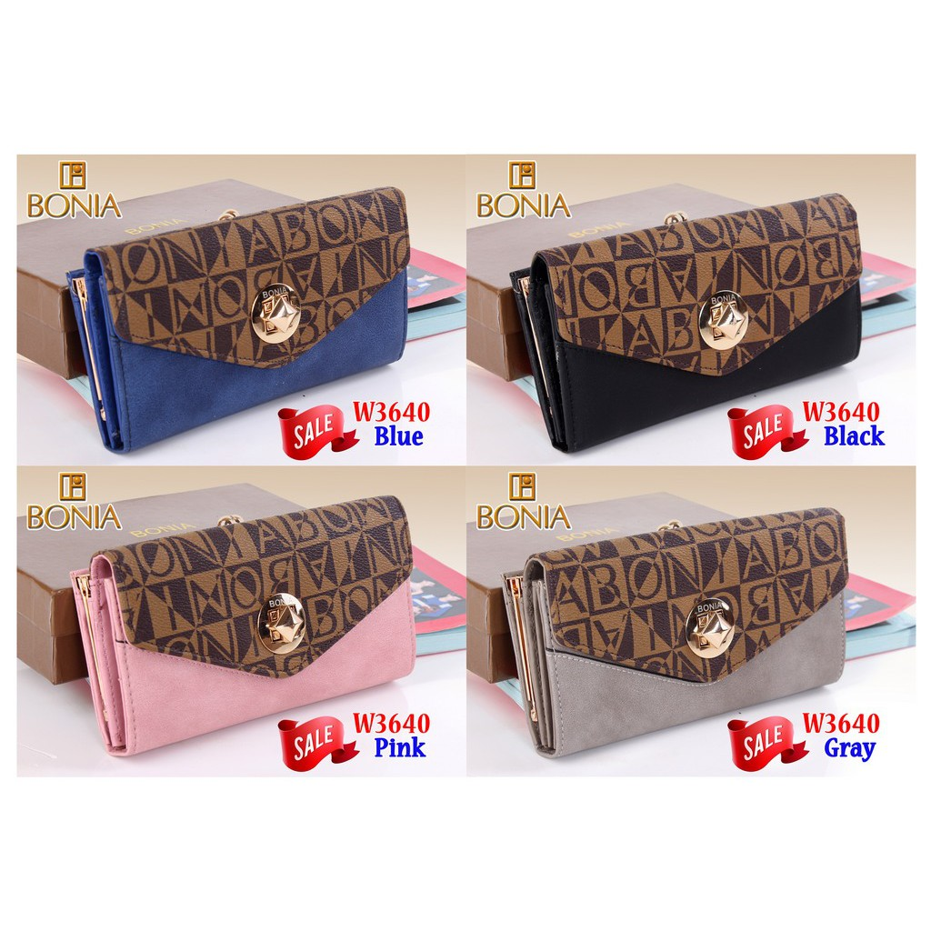 batamall - Wallet BONIA W3640 (SALE)   Dompet Panjang Fashion   Handbag  Murah  8f5582c985