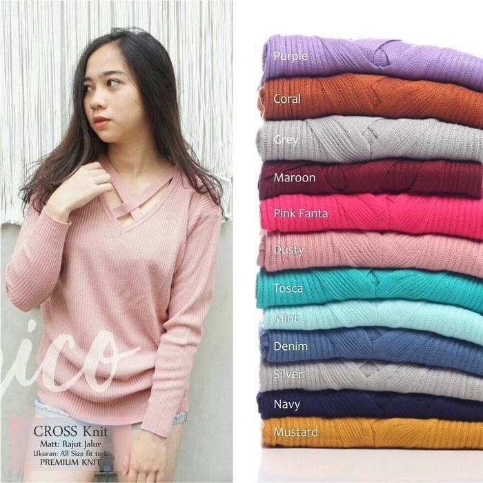 7afd568976 FRINGE SWEATER - baju rajut korea - grosir atasan wanita - supplier rajut  bandung - sweater wanita