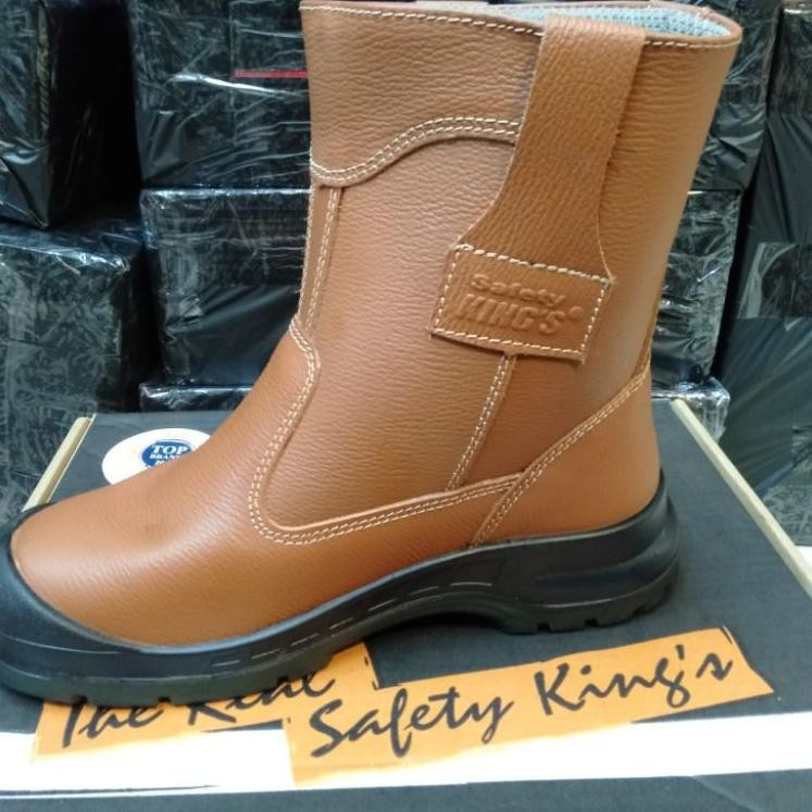 KING'S Sepatu Safety Kings 805 CX Original / Sepatu Septi Kerja Proyek Boots Pria Kulit Asli (KODE H