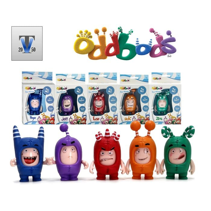 NEW Zee Action Vehicle Oddbods Super Sounds Zee Soft Toy Zee Face Changer