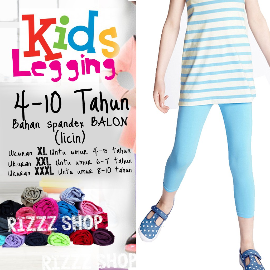 Legging Anak Spandek Balon Licin Good Quality 4 10 Tahun Shopee Indonesia