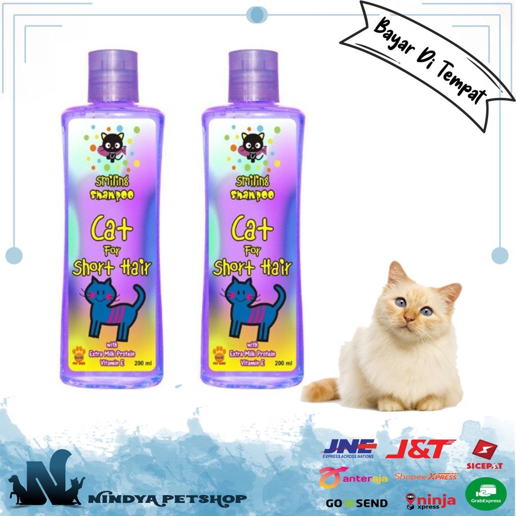 SHAMPOO SMILING CAT FOR SHORT HAIR 200 ml Sampo Kucing Bulu Pendek