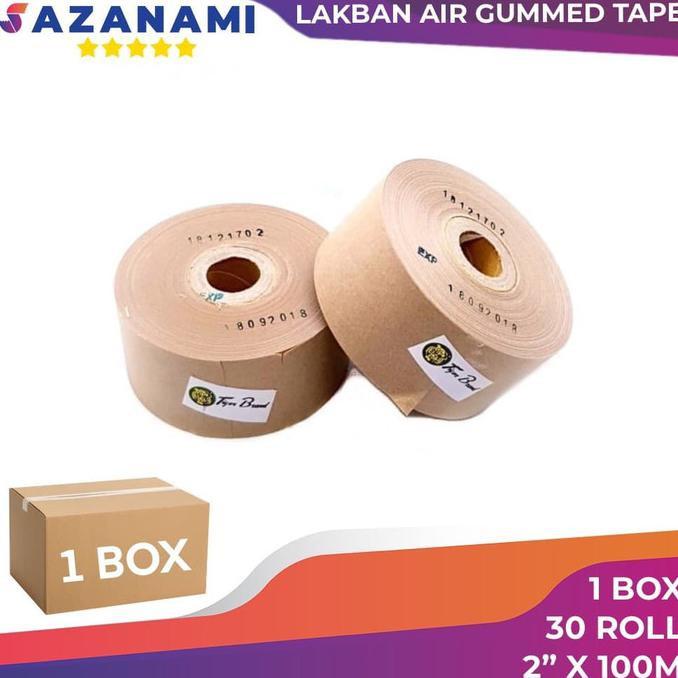 """(COD) 1 BOX GUMMED TAPE 2"""" x 100M Gummed paper craft Tape Tiger LAKBAN AIR"""