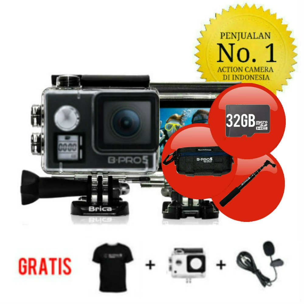 Paket - Brica B-Pro 5 Alpha Edition 4K Mark II S - AE2S Silver 2 Inch LCD Garansi Resmi & Monopod | Shopee Indonesia