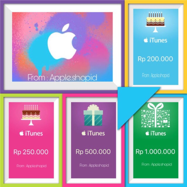 [STOK TERBATAS] Apple iTunes Gift Card Region Indonesia IDR 100K - 150K | Shopee Indonesia