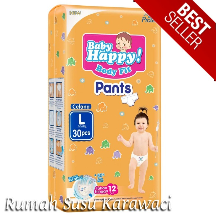 Diaper Baby Popok Bayi Celana Baby Happy Body Fit Pants M34+6/L30+6/XL26 | Shopee Indonesia