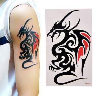 FLASH SALE COD Tatto Stiker Stiker temporary air defense power dragon tattoo size 10.5x6cm thumbnail