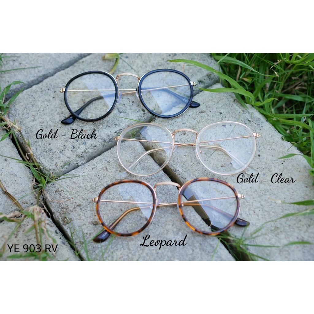 Kacamata Bulat Jhon Lenon Diameter 5cm Shopee Indonesia Metal Black