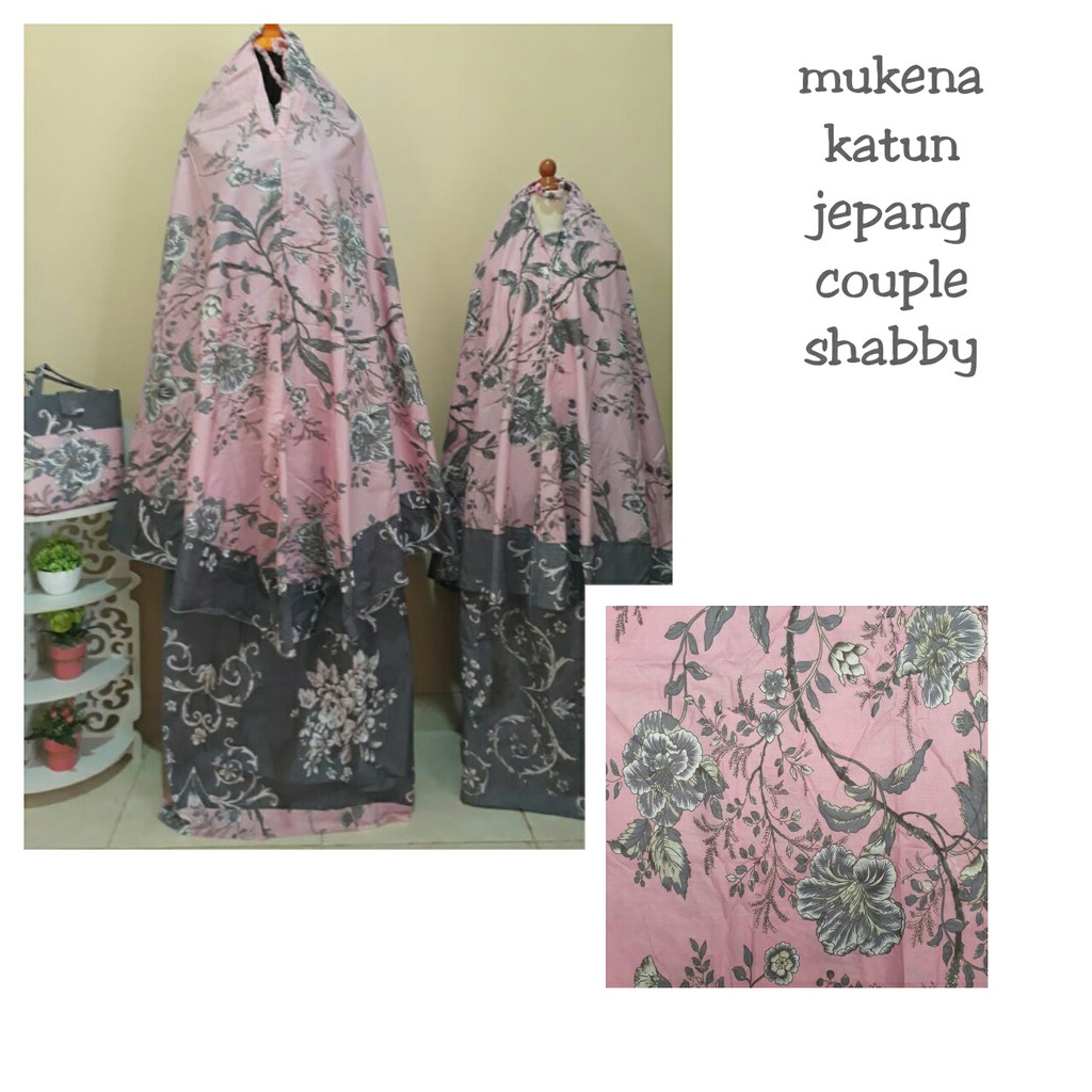 Mukena Couple Katun Jepang Shopee Indonesia Amira Dusty Pink 249 B Bulan