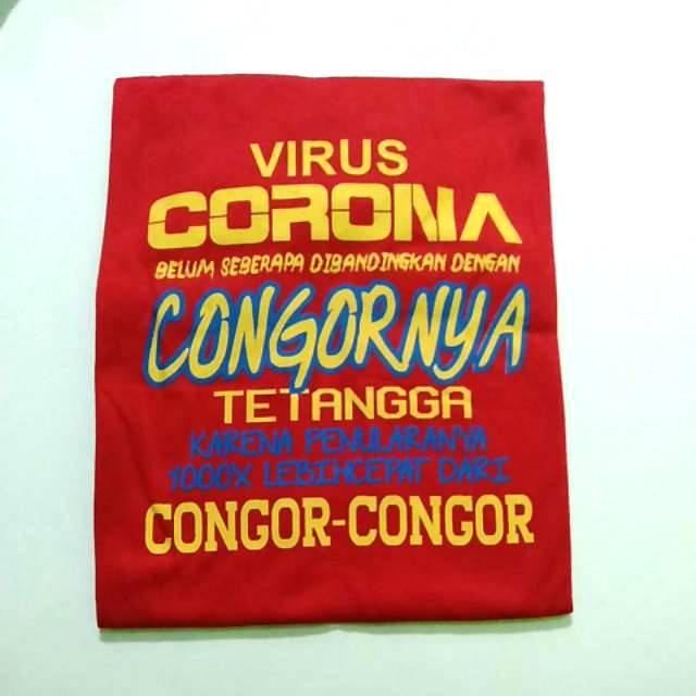 Kaos Kata Kata Kaos Corona Kaos Virus Corona Shopee Indonesia