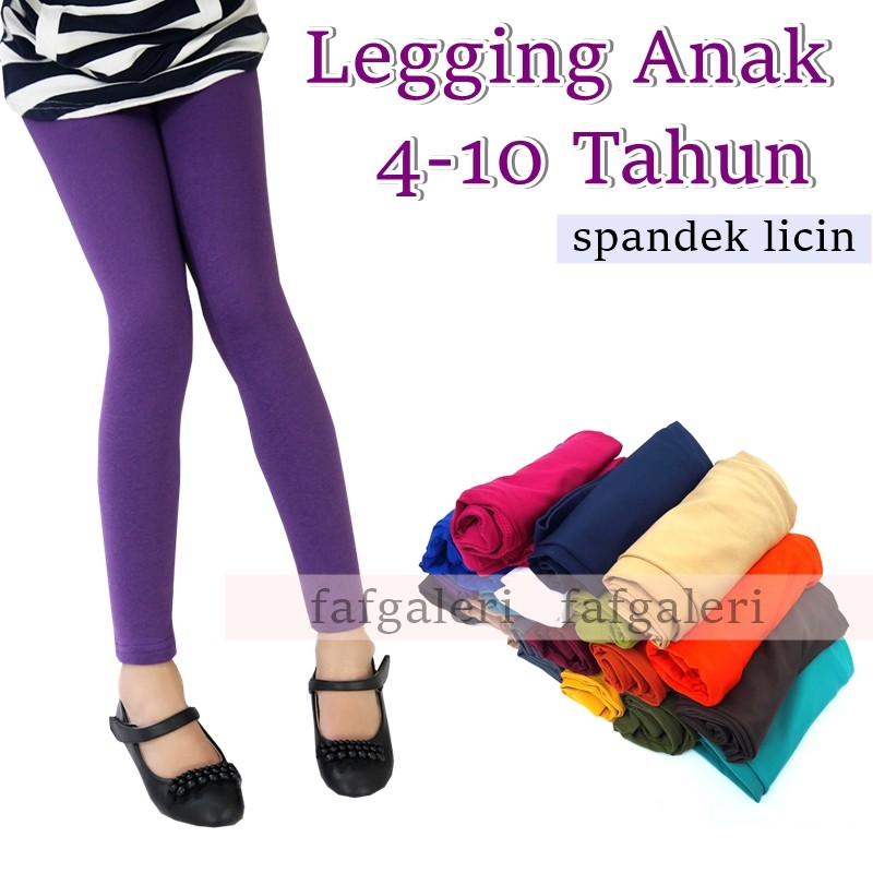 Legging Anak Spandek Balon Licin Good Quality