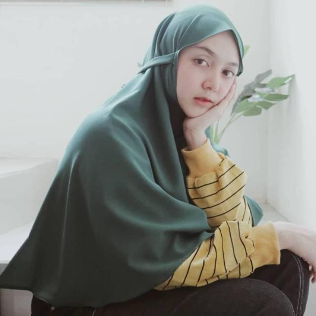 Hijab Bergo Maryam Non Oad Diamond Warna Army Shopee Indonesia