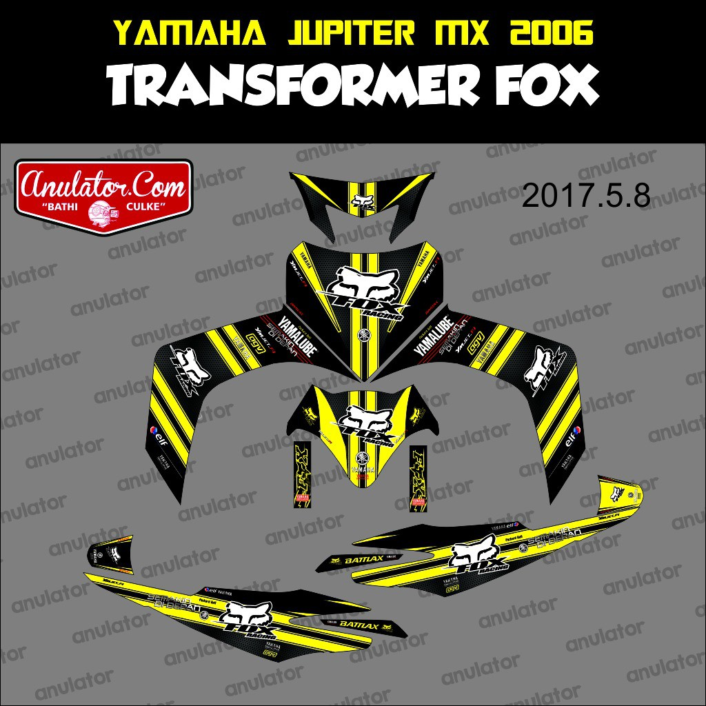 Sticker striping motor stiker yamaha jupiter mx 2006 one piece spec b termurah dan terbaik sip shopee indonesia