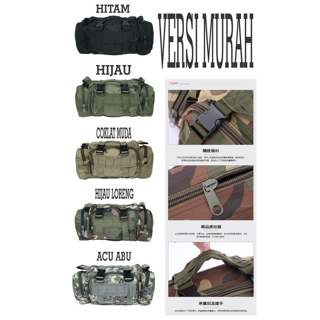 Impor Tas Selempang Army Tactical 803 Abu Loreng Best Buy Indonesia Import Banyak Warna Paling Laris Peria Shopee