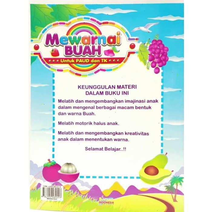 Buku Edukasi Anak Paud Tk Mewarnai Buah Shopee Indonesia
