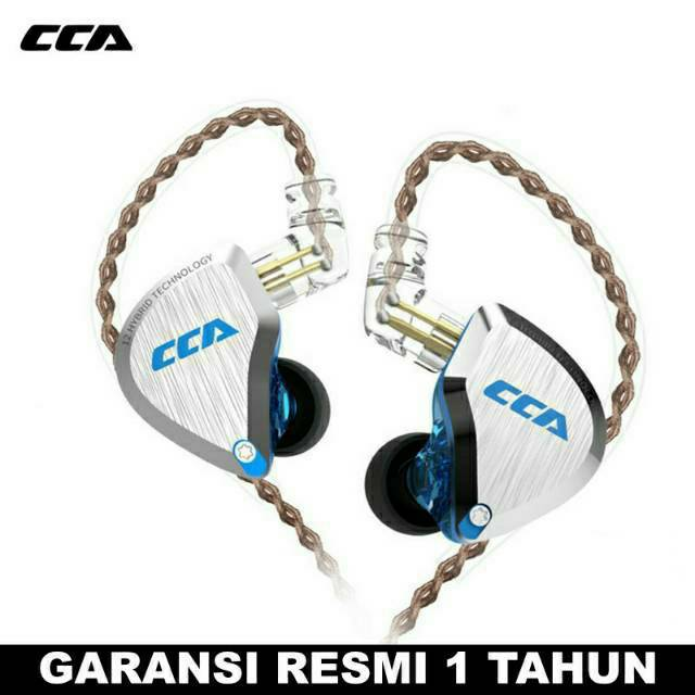 CCA C12 with Mic Earphone 5BA+1DD 6 Driver Metal Faceplate ...