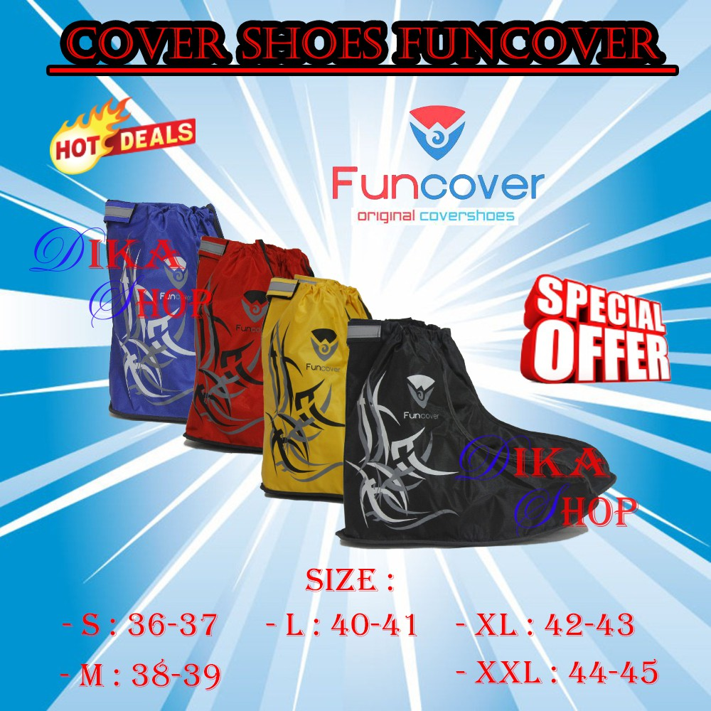 New FUNCOVER 2016 Silver / Abu-abu, Cover Shoes / Jas Hujan Sepatu | Shopee Indonesia