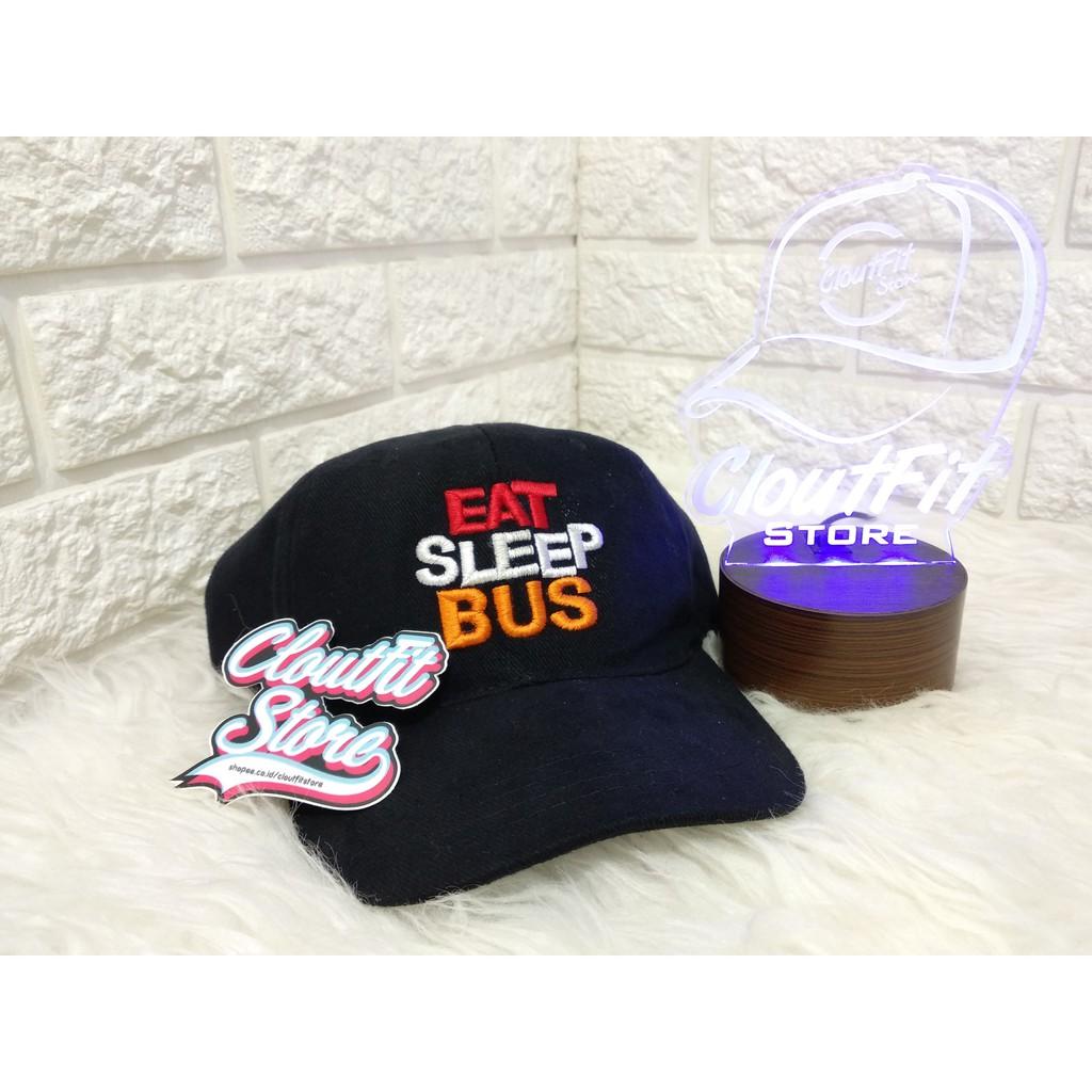 d9a6712b0 Topi Eat Sleep Bus Baseball Custom Bordir Premium
