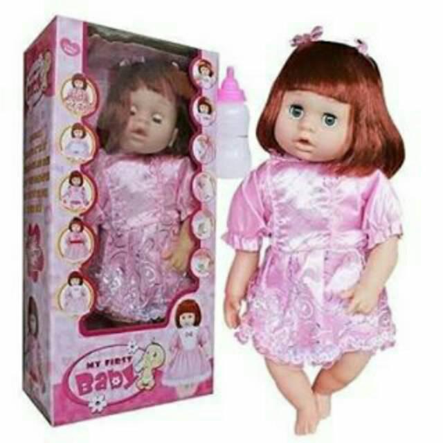 Boneka Menangis Minum Susu Bisa Menyanyi lho FREE BATERAI My First Singer  Baby  88ce58eed7
