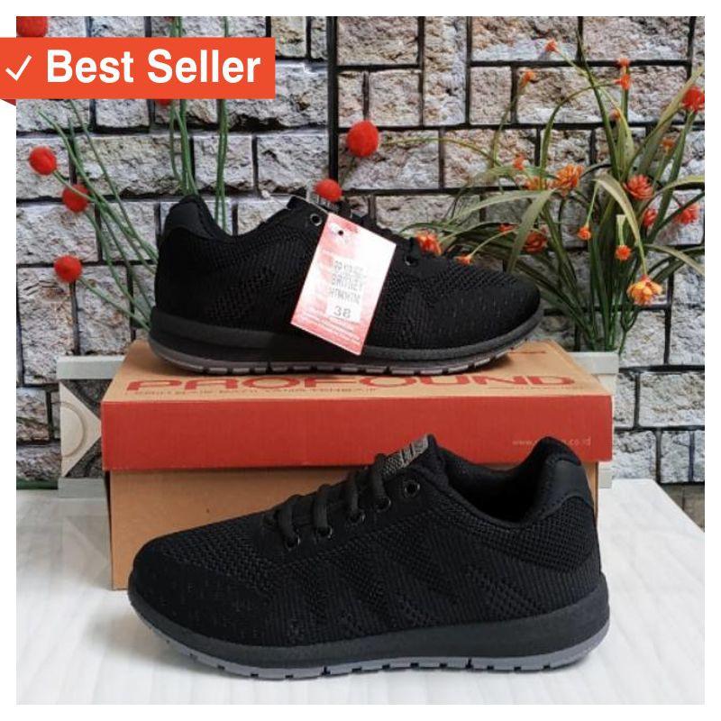 Sepatu Sneakers Wanita Pria Remaja Keren Sepatu Sekolah Hitam