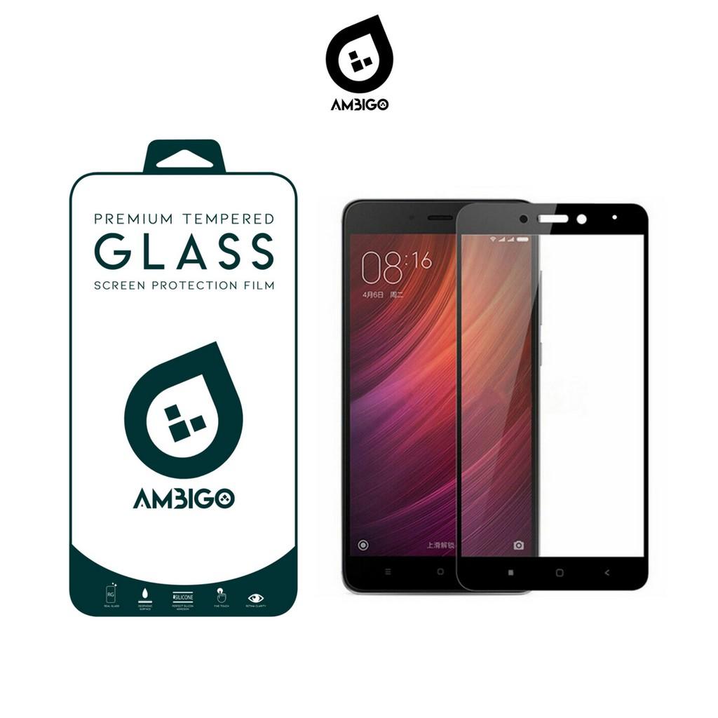 AMBIGO Premium Tempered Glass Kaca Full Cover Warna Original For Xiaomi Redmi Note 4 Mediatek   Shopee Indonesia
