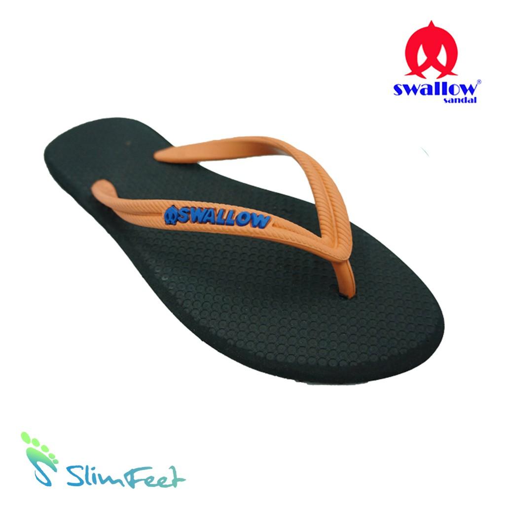 Sandal Swallow Premium Spectrum Pria Black – Tali Orange | Shopee Indonesia