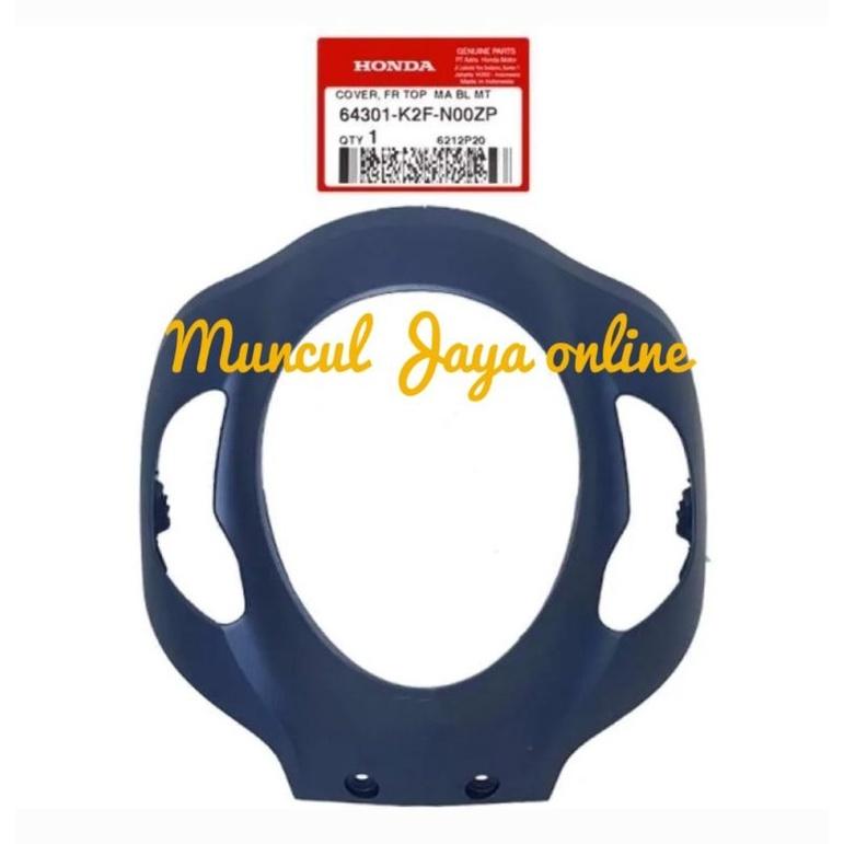 64301-K2F-N00ZP Cover Front Panel Tameng Lampu Depan Scoopy eSP K2F Biru DOFF