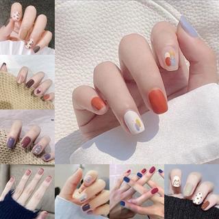 24PCS Cute Fake False Nails with Free Glue Manicure R041-R060 thumbnail