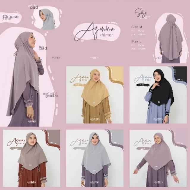 Khimar Jilbab Saja Ayanna Khimar By Silmee Indonesia Shopee Indonesia