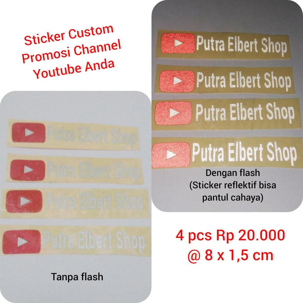 Sticker Cutting Vinyl Reflektif Custom Promosi Youtube Channel Shopee Indonesia