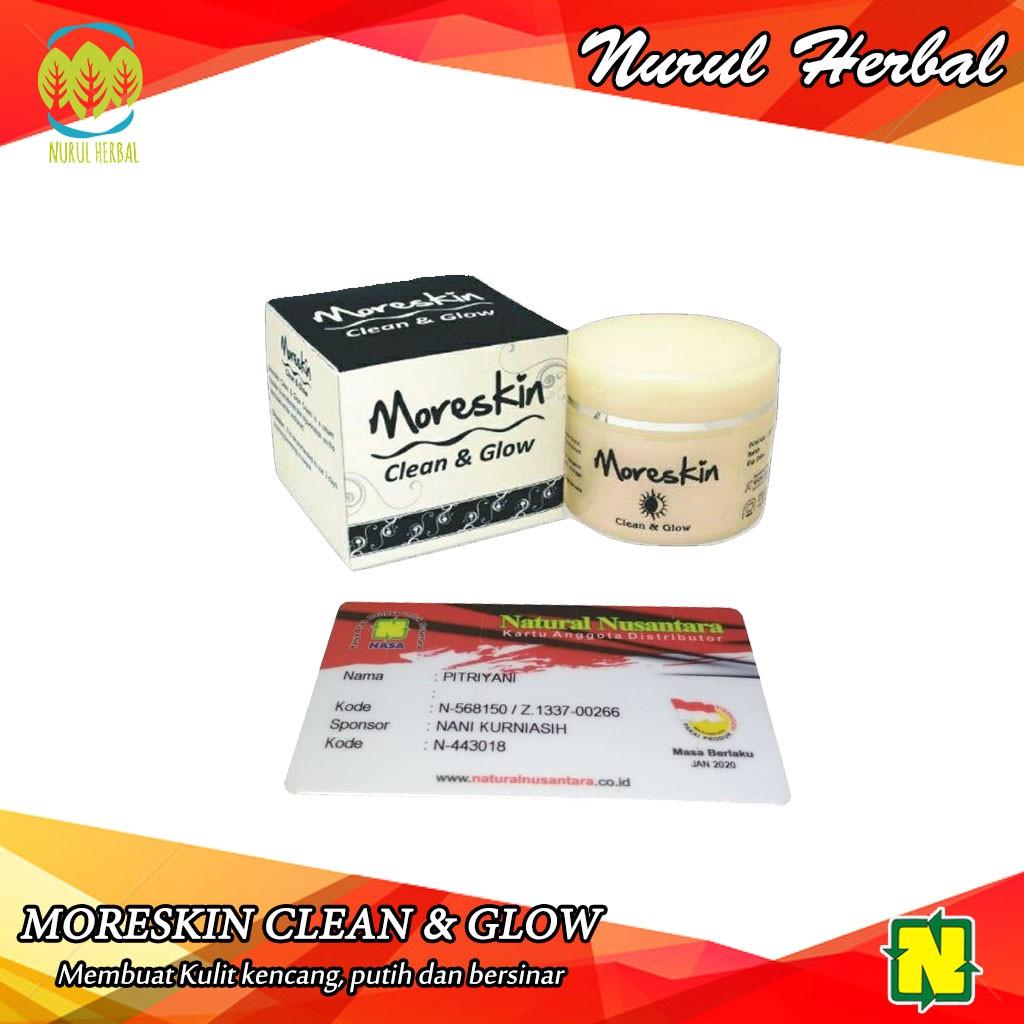 Moreskin Clean And Glow Nasa Cream Booster Pengencang Dan Peremajaan Kulit Shopee Indonesia