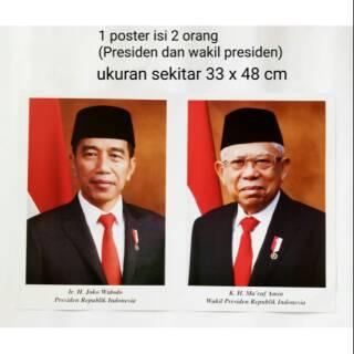 Gambar Presiden Dan Wakil Presiden Terpilih 2019 2024 Bapak Jokowi Bapak Makruf Amin Shopee Indonesia