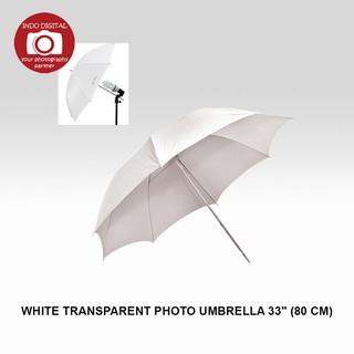 "33"" White Transparent Photo Umbrella - Payung Transparan 80cm   Shopee Indonesia"