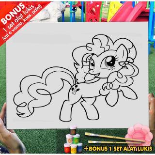 Kanvas Drawing Anak Maud Pie My Little Pony 30x40 Cm Mel1173 Mewarnai Coloring Shopee Indonesia