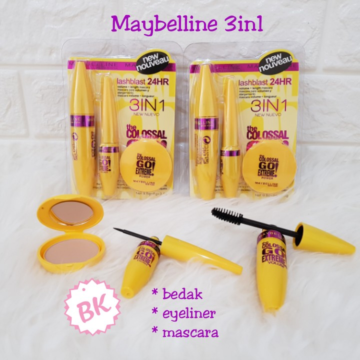 f13c8caf07c Maybelline The Colossal Go Extreme 3in1 Biru | Shopee Indonesia