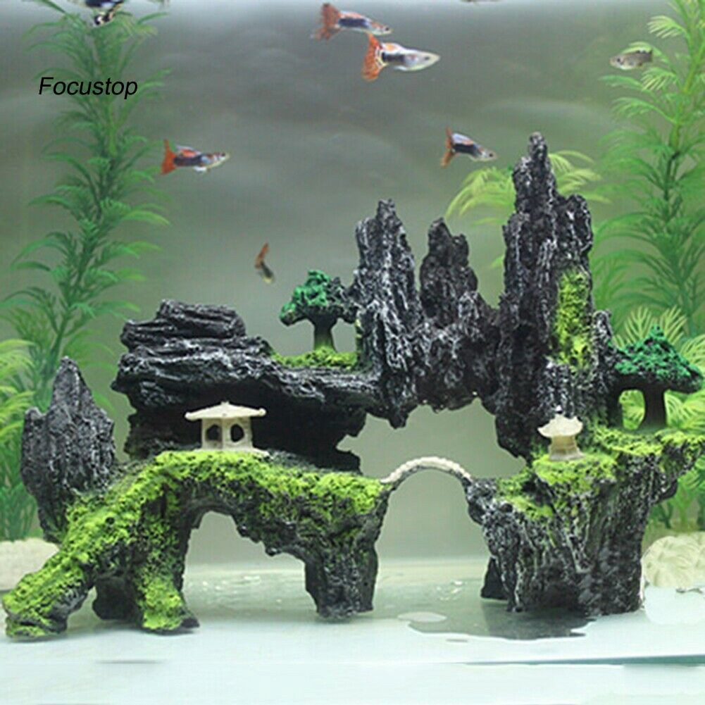 Fish Tank Aquarium Decorative Landscape Aquarium Ornament Decoration Accessory Decorations Universitasfundacion Pet Supplies