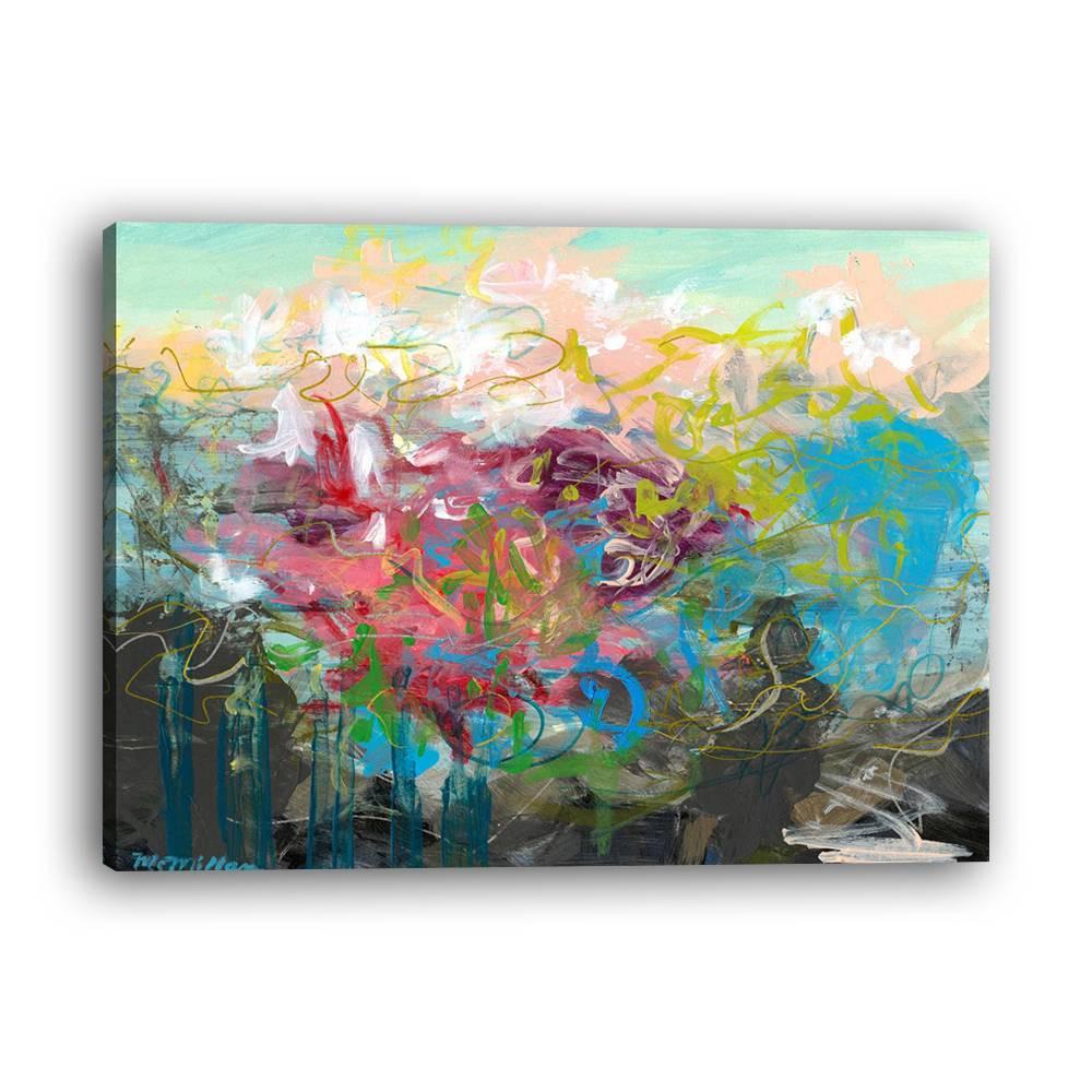 1Pc Lukisan Dengan Bahan Kanvas Dan Gambar Bingkai Foto Untuk Dekorasi Rumah