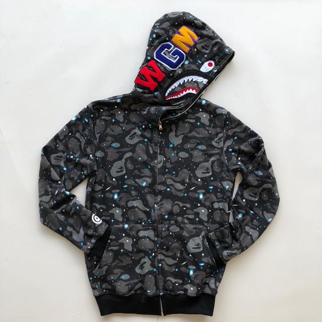 eb4d20f58077 Jaket BAPE hoodie 1st windstopper GALAXY WGM SHARK - a Bathing Ape premium  jacket
