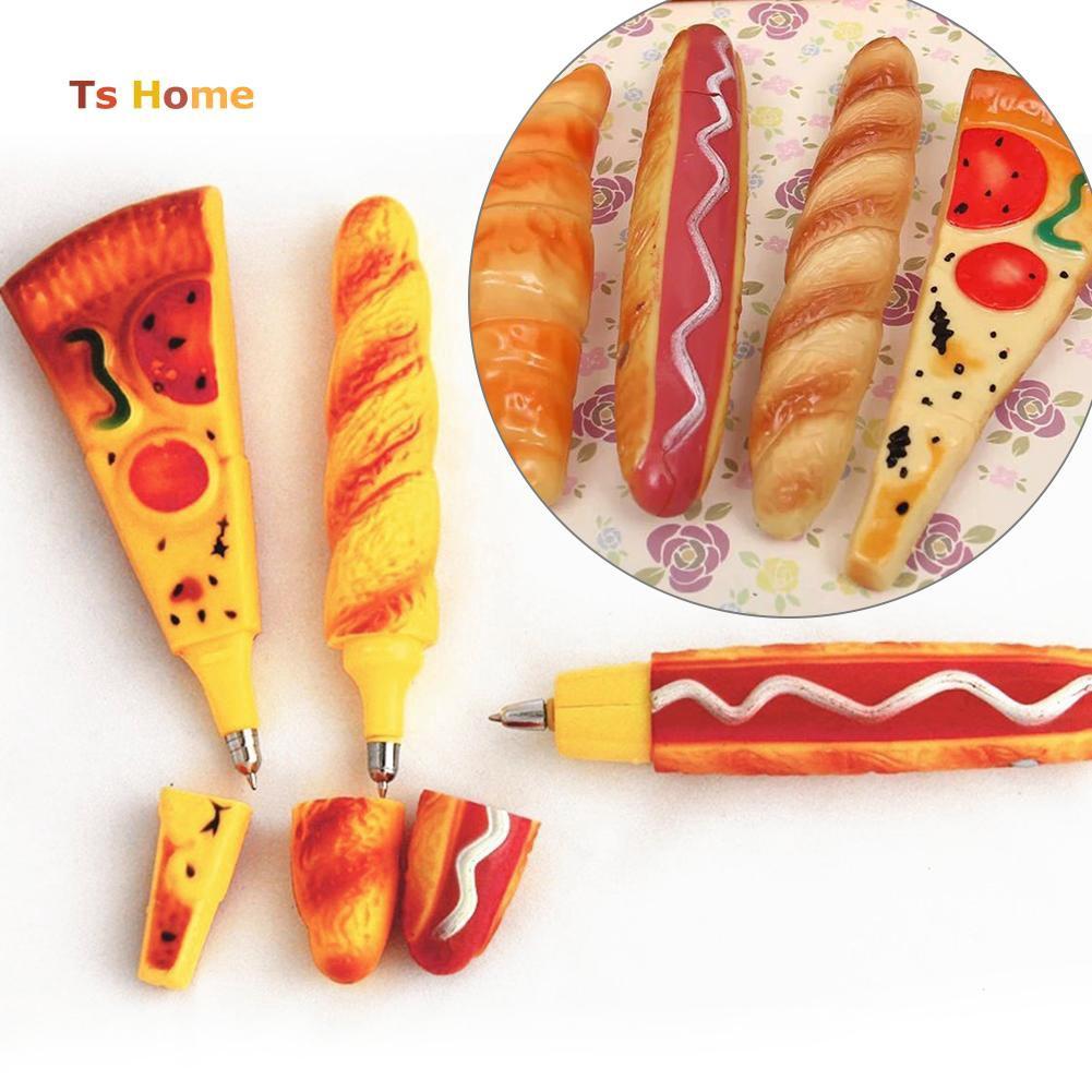 Stiker Magnet Kulkas Bentuk Pizza Hot Dog Kreatif Untuk Dekorasi Rumah