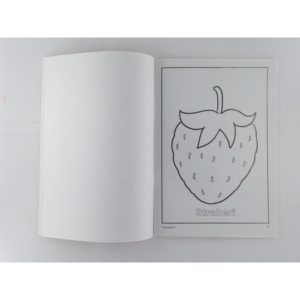 Buku Terampil 3 Mewarnai Menjiplak Dan Mencocok Gambar Udang