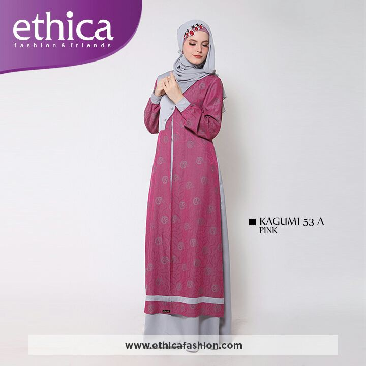 Terbaru Gamis Dewasa Ethica Kagumi 53 Pink Shopee Indonesia