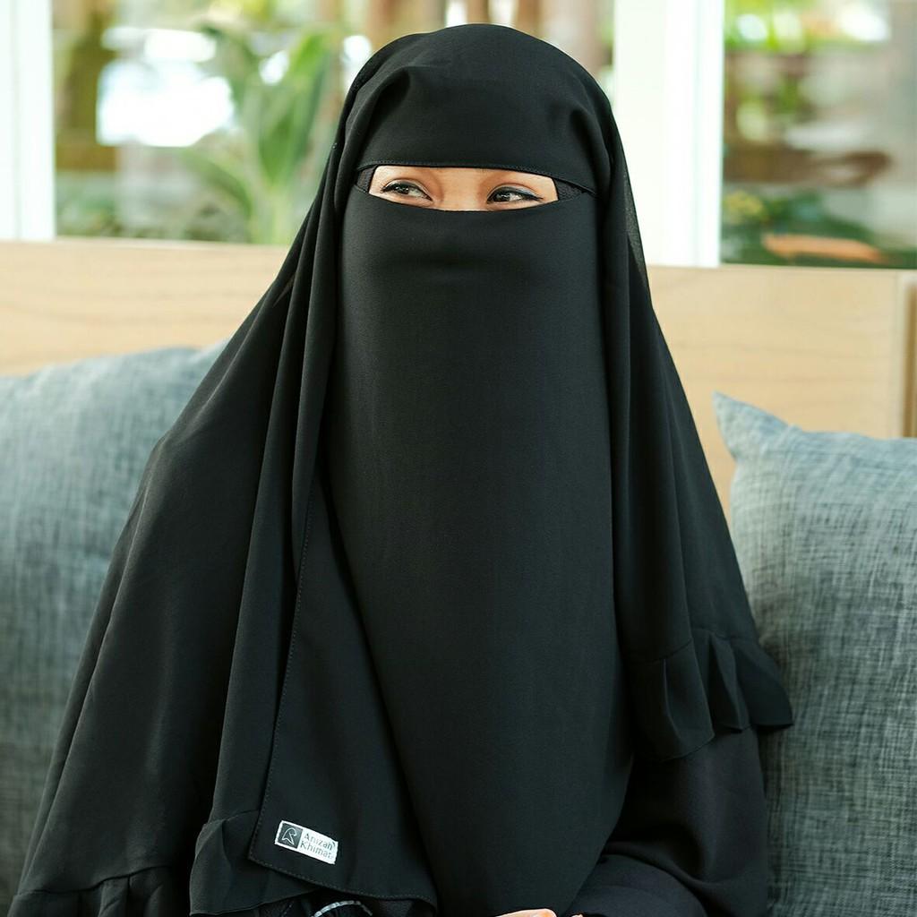 Cadar Yaman Rempel Baby Doll 3 Anizah Khimar Niqab Niqob Yaman Shopee Indonesia