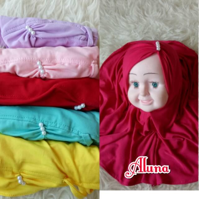 Jilbab anak aluna mutiara/hijab anak murah/jilbab hijab diskon | Shopee Indonesia