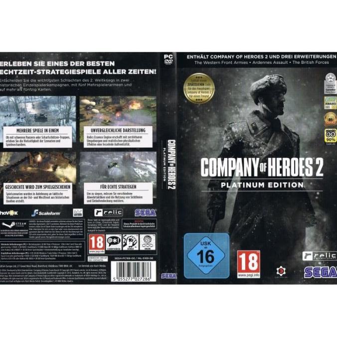 Favorit Game Pc Dan Laptop 5kaset Dvd Company Of Heroes Platinum Complete Shopee Indonesia