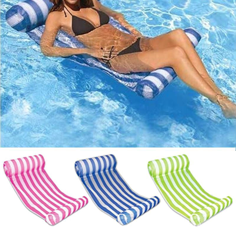 Pool Lounger Float Hammock Inflatable Rafts Swimming Pool Air Floating Chair Shopee Indonesia