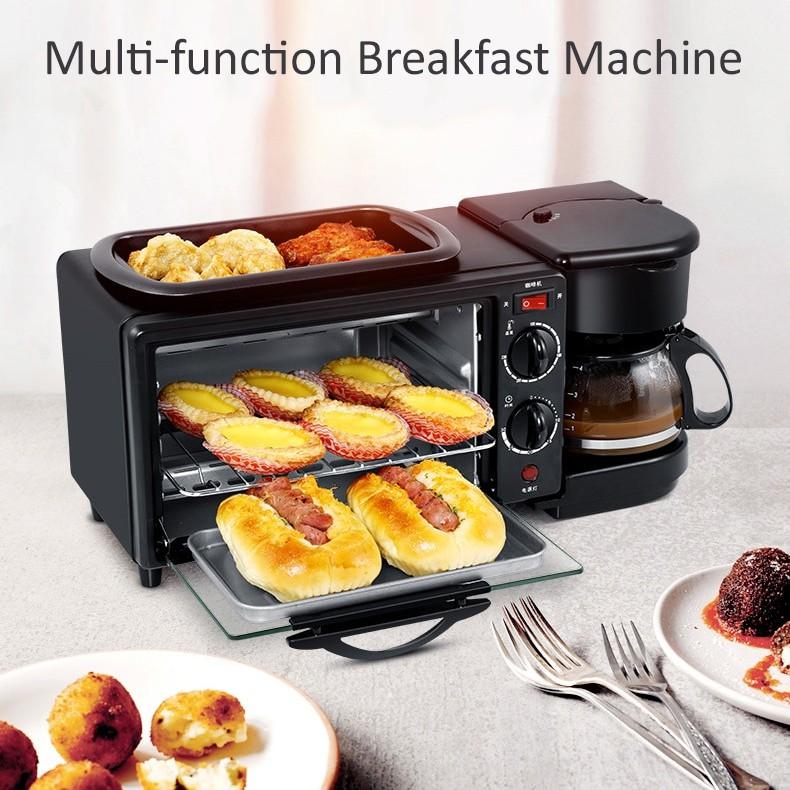 Oven 3in1 Dengan Panggangan Dan Coffee Maker Cukyi Breakfast Machine Shopee Indonesia