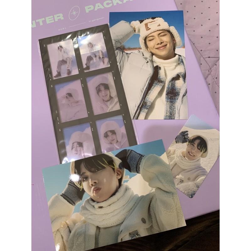 WTS 6 cut photo film jimin , pc j-hope , 4x6 photo rm dan j-hope sharing winter package bts (bundle)
