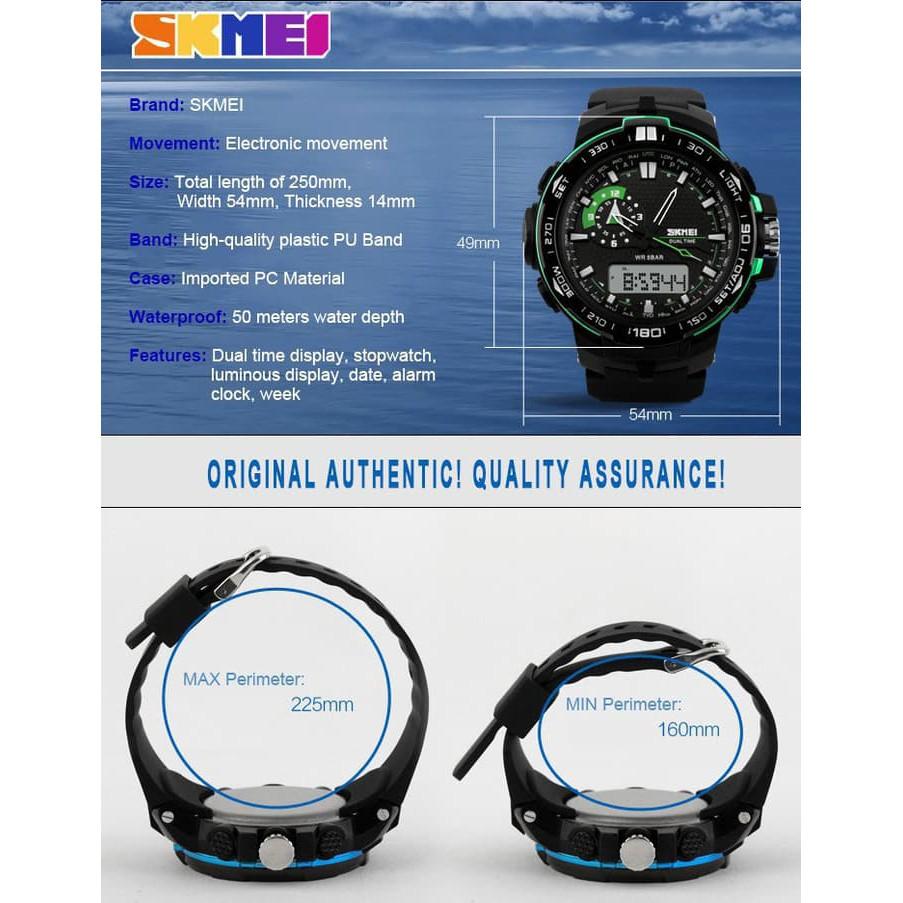 Skmei S Shock Sport Watch Water Resistant 50m Dg1025 Titanium Shopee Indonesia