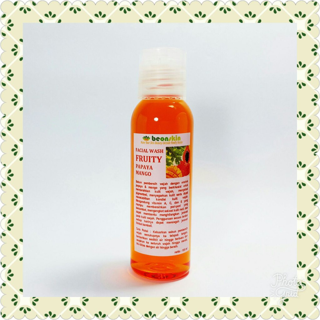 Facial Wash Papaya Mango Whitening Shopee Indonesia Surewhite Foam Bpom 100ml
