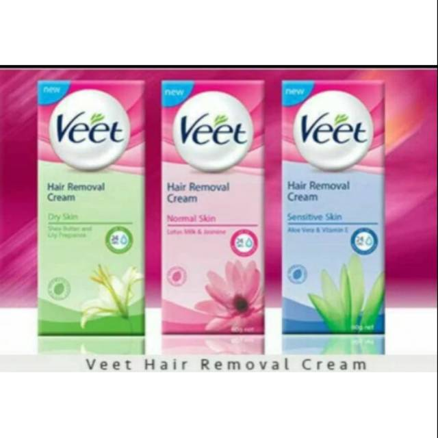 Veet Removal Cream Penghilang Bulu Kaki Ketiak Tanpa Rasa Sakit Shopee Indonesia